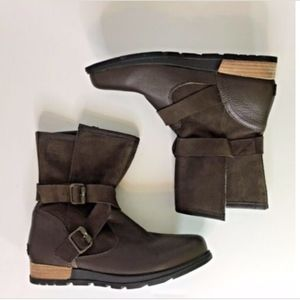 Sorel Motto Leather Brown Leather Boots NWT C33